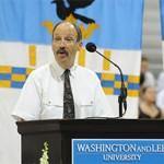 Art Goldsmith addressing audience at Washington & Lee University