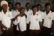 Students dressed in their School Uniform