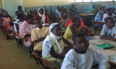 Girls attending school in the village of Kaffrine where ELEVEate operates programs