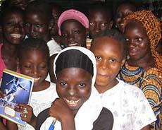 Senegal girls in classroom
