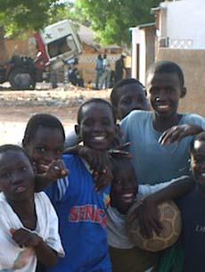Group of Senegal boys
