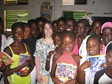 Allyson Goldsmith with students.